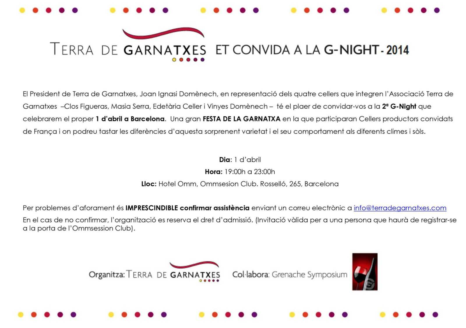 terra de garnatxes 2 G-Night